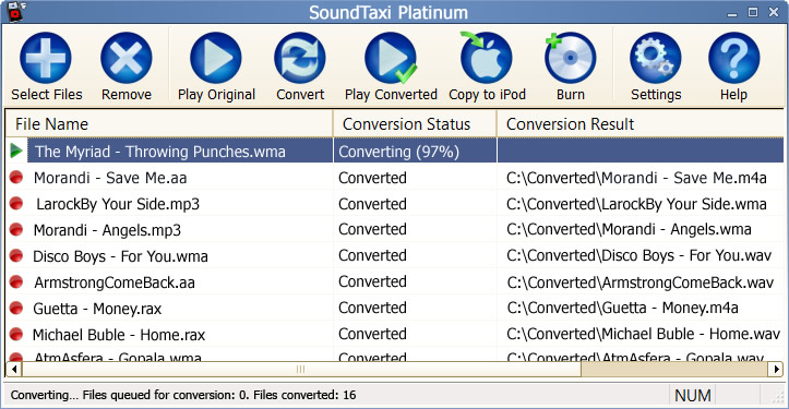 Click to view SoundTaxi Platinum 4.3.8 screenshot