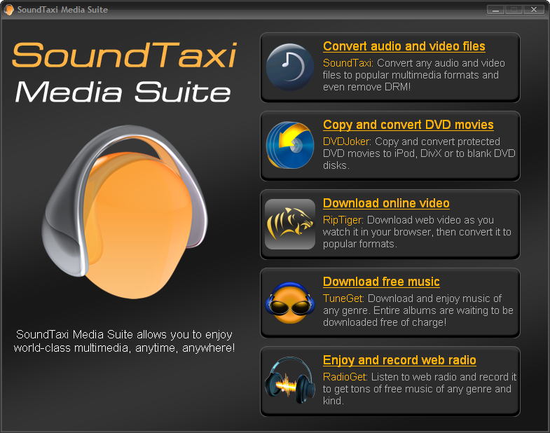 SoundTaxi Media Suite full screenshot